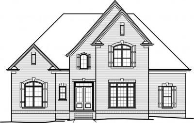 House Plans   Home Plans by Paul Gilbert Distincitve DesignsHome Plan   Front View