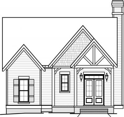 Front view of house drawing for Front view house plans