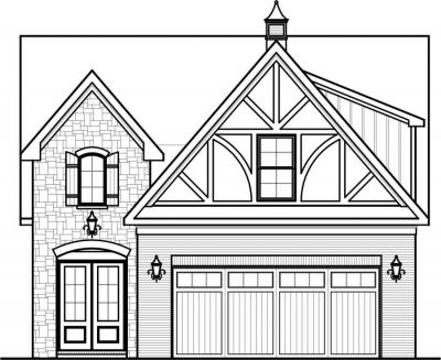 House plans home plans by paul gilbert distincitve designs for Front view house plans