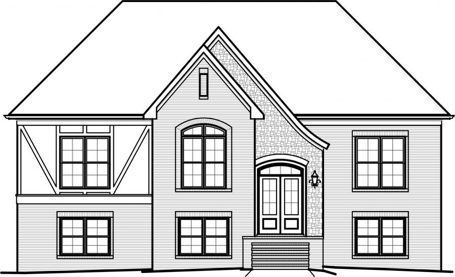 Front View House Plans on narrow houses floor plans, narrow lot floor plans, narrow lakefront house plans, narrow lot cottage house plans,