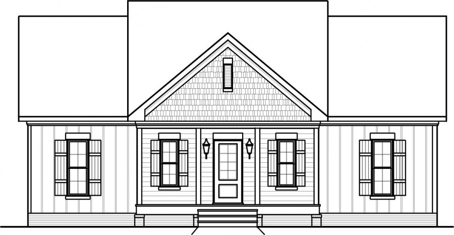 Excellent front view of a house plan contemporary best for Front view of a house plan